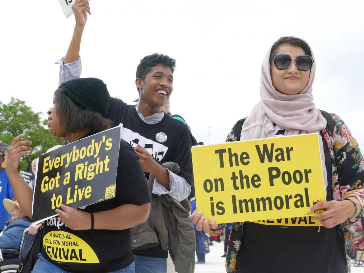 People marching for the Poor Peoples Campaign.