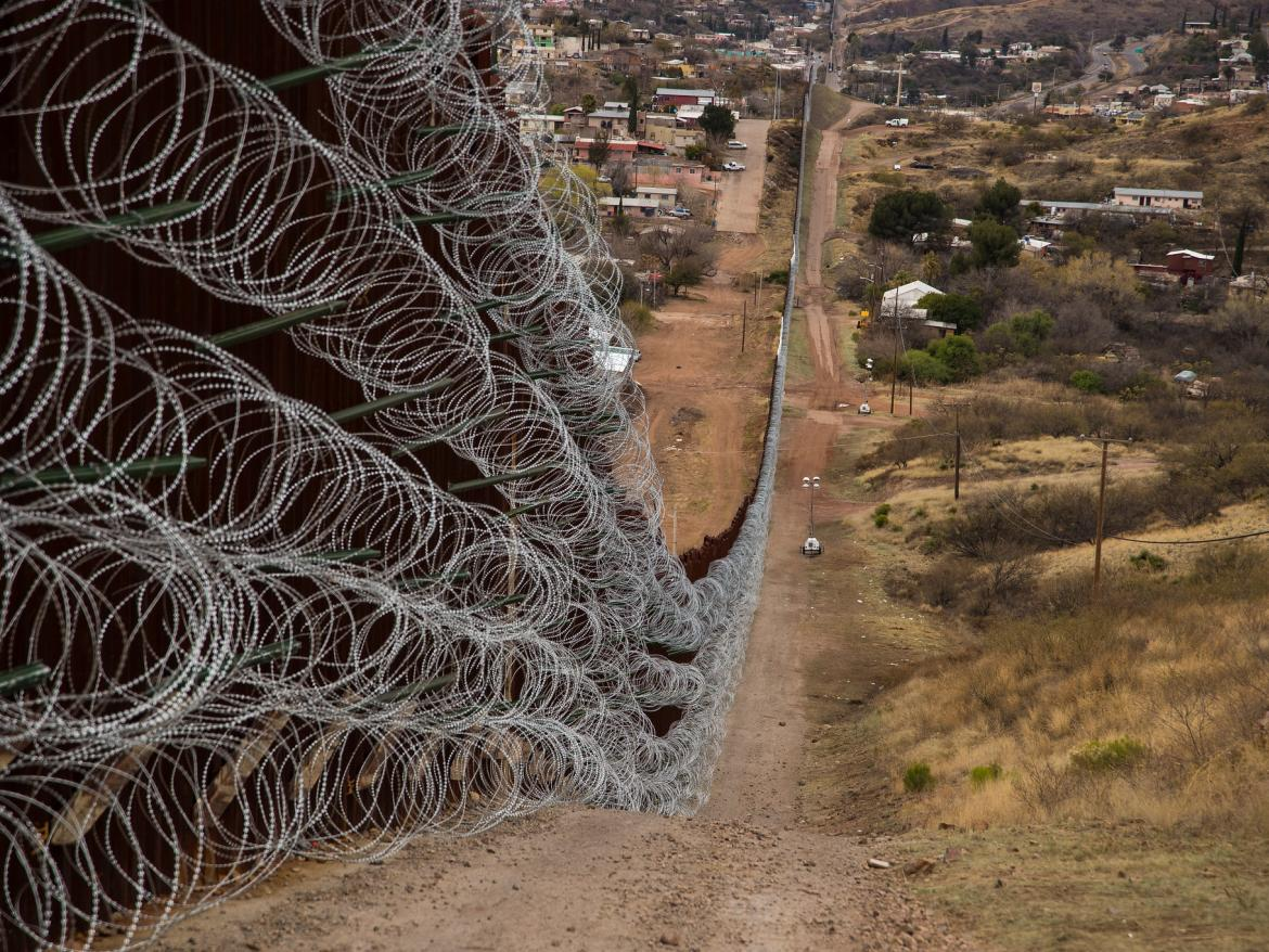 Layers of Concertina are added to existing barrier infrastructure along the U.S. - Mexico border near Nogales, AZ, February 4, 2019.