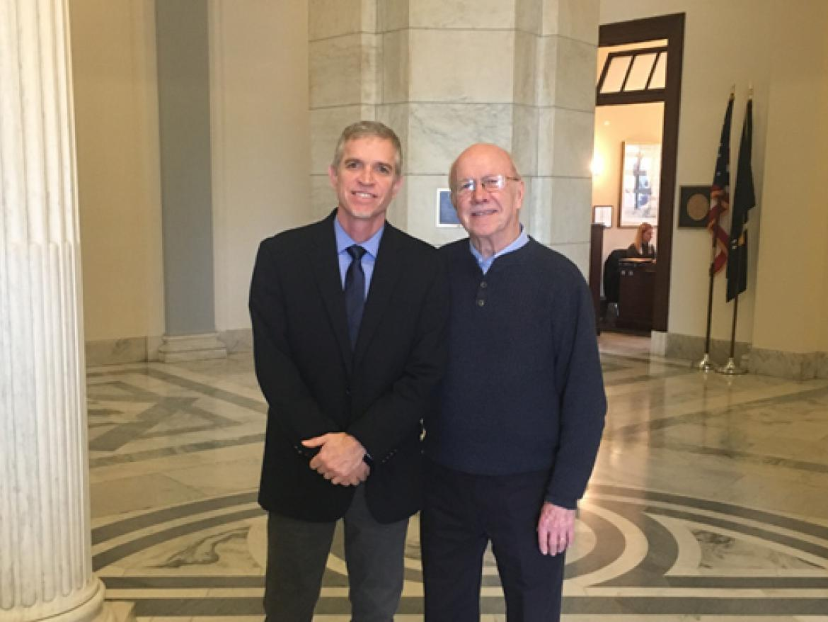 Michael and Neil Snarr lobby their Senators during Annual Meeting 2018.