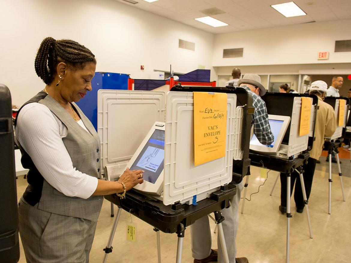 Baltimore voters cast their ballots during early voting 2014.