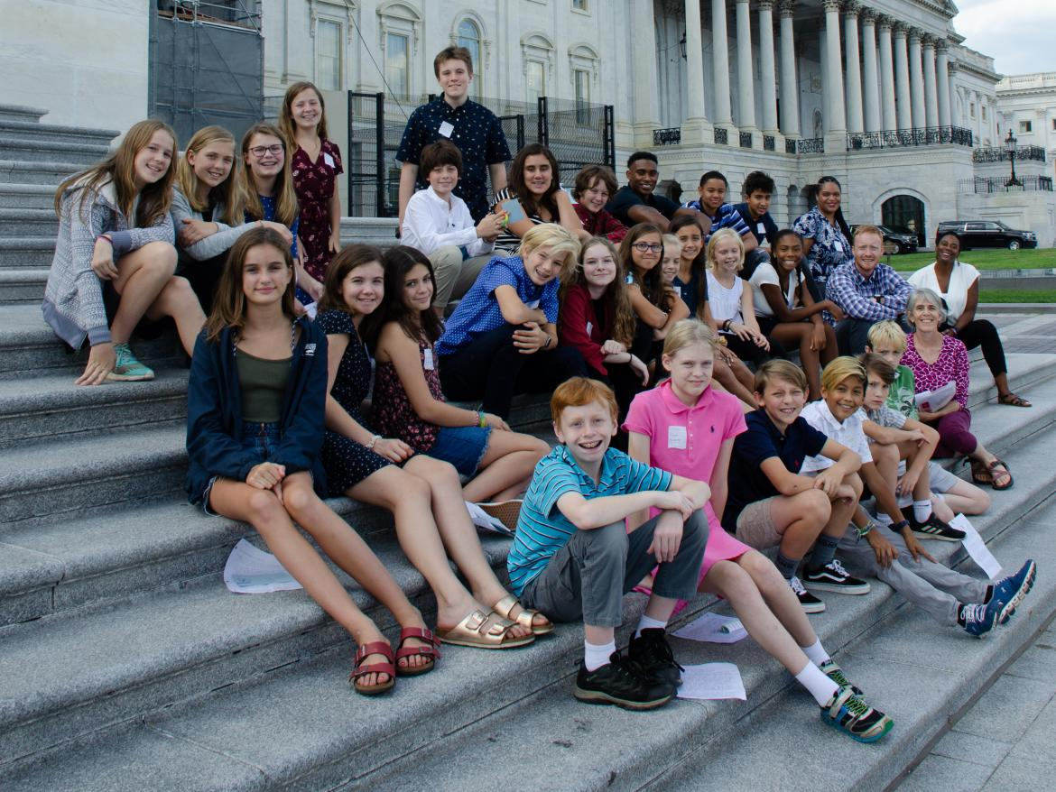 Tandem Friends School students on the Capitol Steps