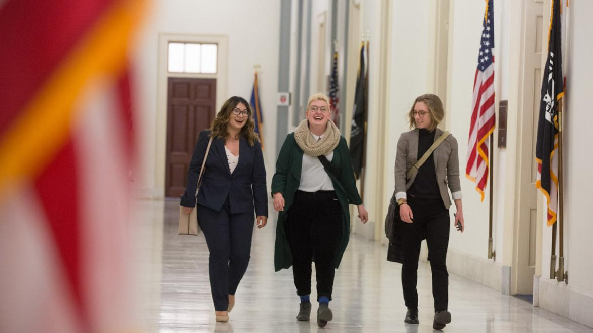 Advocates walk the halls of Congress during Spring Lobby Weekend 2019